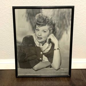 Lucille Ball I Love Lucy Vintage Framed Poster
